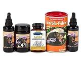 Robert Franz - Vitamin D3-Tropfen (50 ml) und K2-Tropfen (50 ml) und Acerola (175 g) und OPC 133 (60 Kapseln) und Ayursana Sango-Korallen-Kapseln (60 Stück)