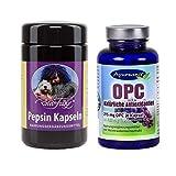 Robert Franz Pepsin (90 Kapseln) und Ayursana OPC (120 Kapseln)